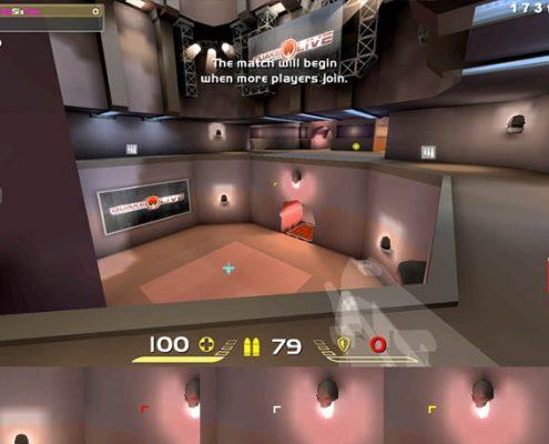Quake Live: Quake 2 angle crosshair